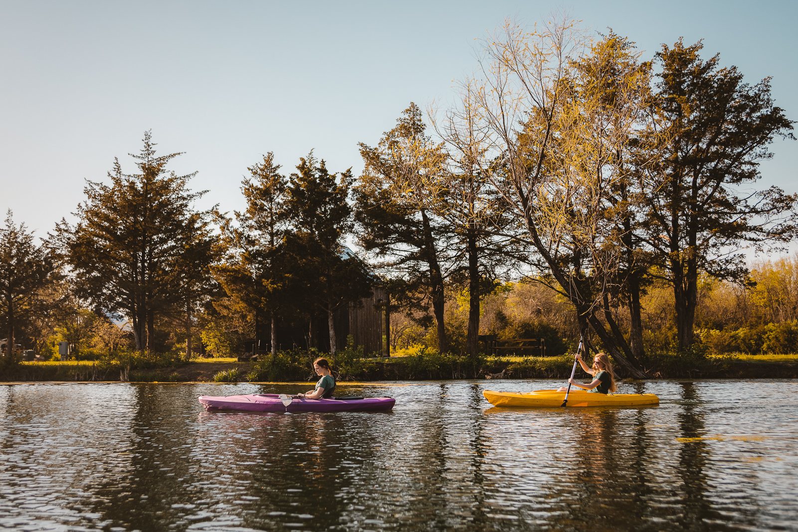 The Quarry Pond is the source of beauty and fun while at BaseCamp. Use one of our paddleboards, kayaks, or canoe and enjoy the serenity of the water.