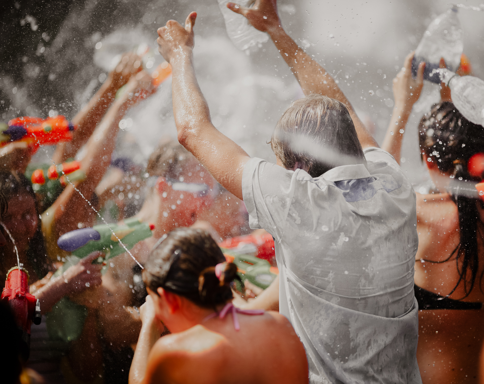 In the peak of summer, this water-themed event, complete with a parade, water slides, water fights and more, brings people to town from all over.
