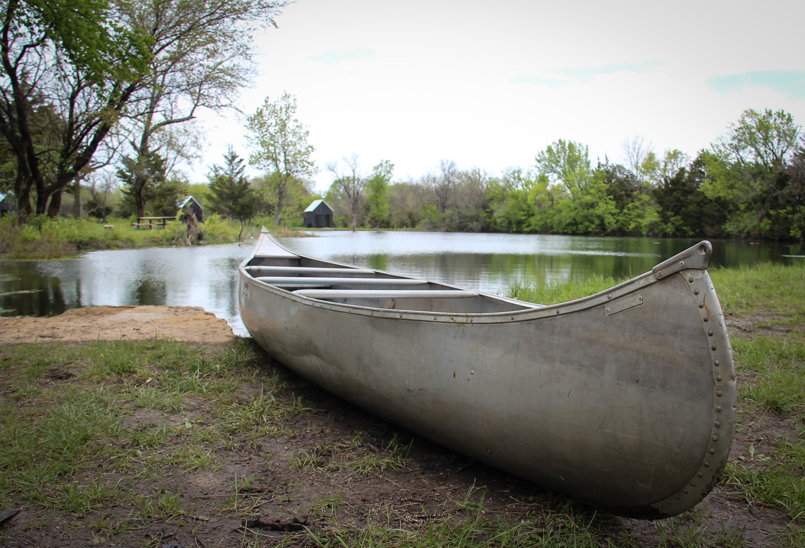 Enjoy boating and fishing in the clear waters of The Quarry Pond, near Kansas City Missouri.
