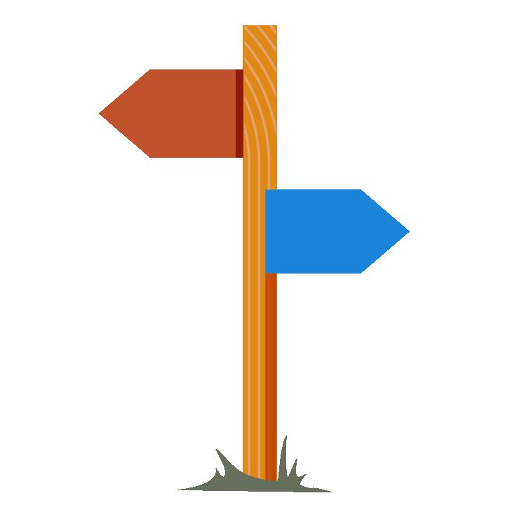 BaseCamp - direction sign