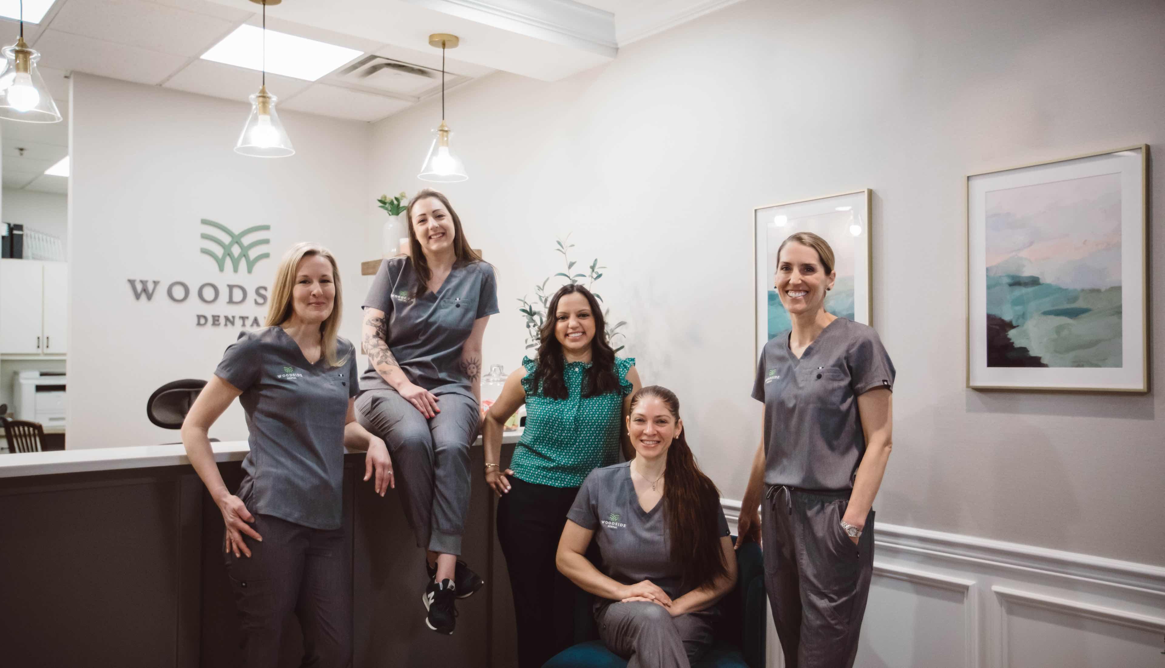 Photo of the Woodside Dental team