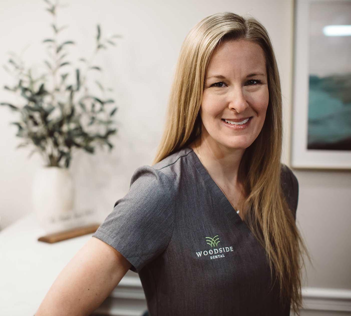 Photo of Stephanie Frank, a Woodside hygienist