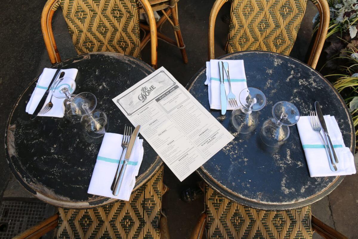 Tables terrasse le Dôme Villiers