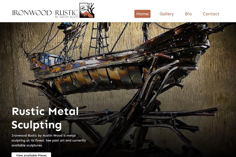 Screenshot of webhound marketing client work