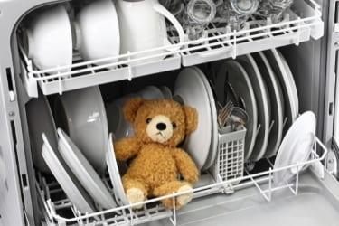 Toy inside the dishwasher