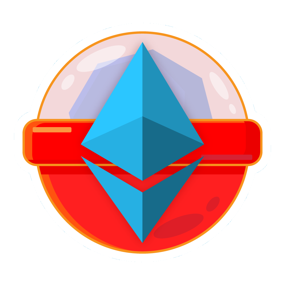 Gachapon capsule with ethereum symbol