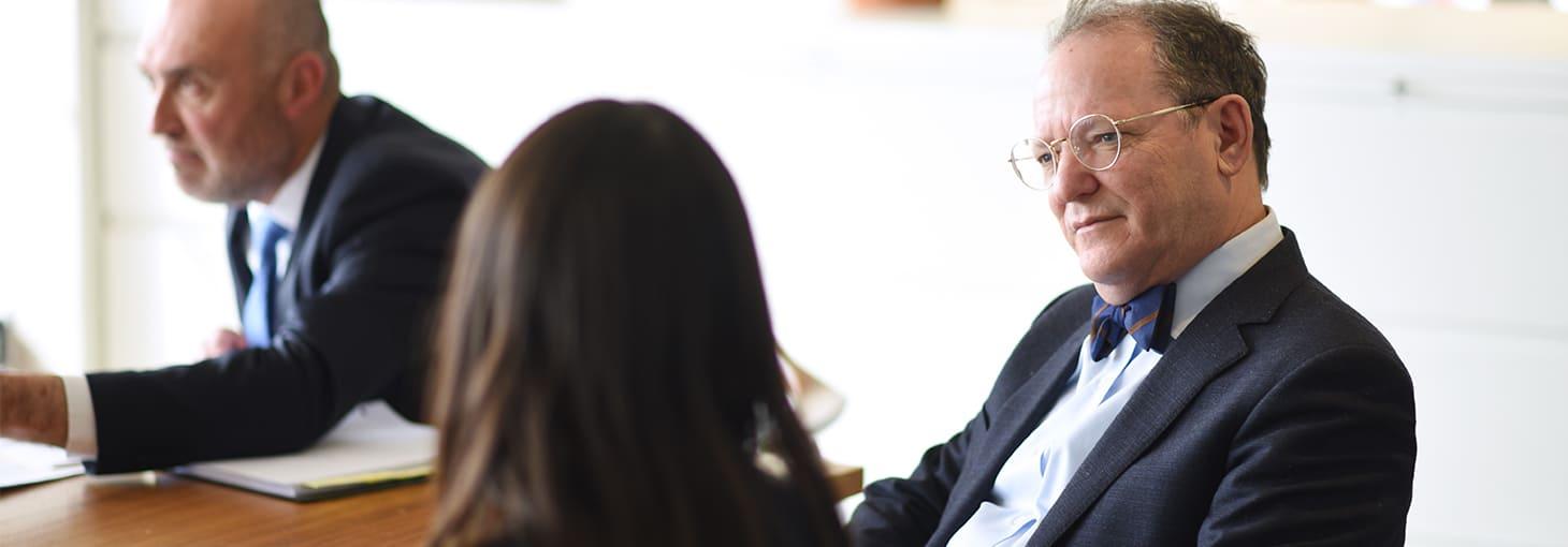 Alan Fuchsberg discussing medical malpractice claim