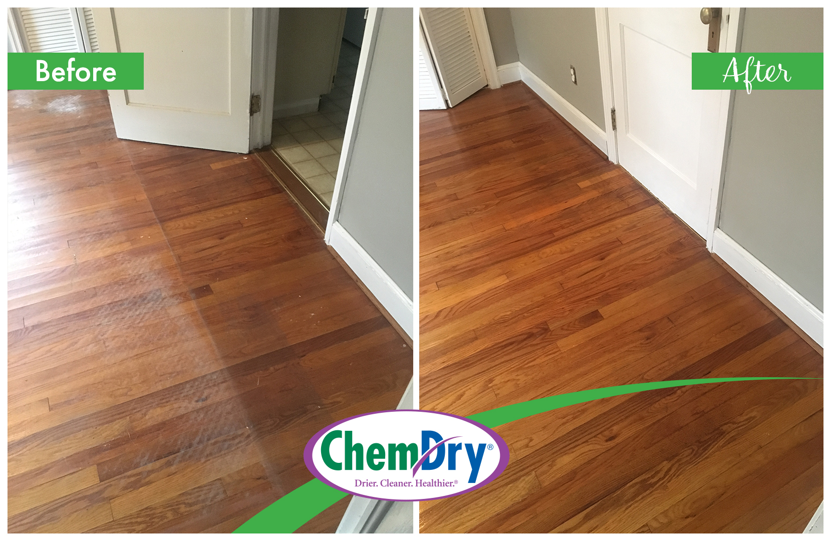 Hardwood Floor Cleaning Before and After All Star Chem-Dry