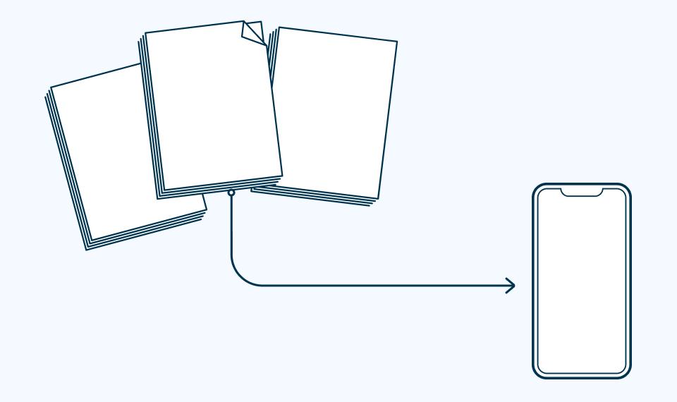 PDFs to App Illustration