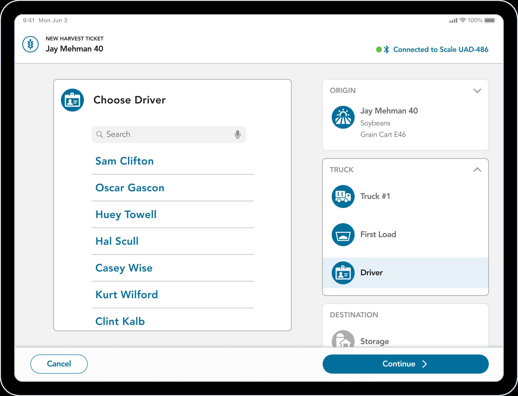 Conservis Tablet UI