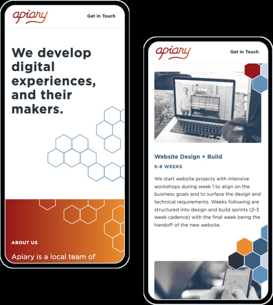 Apiary Website UI