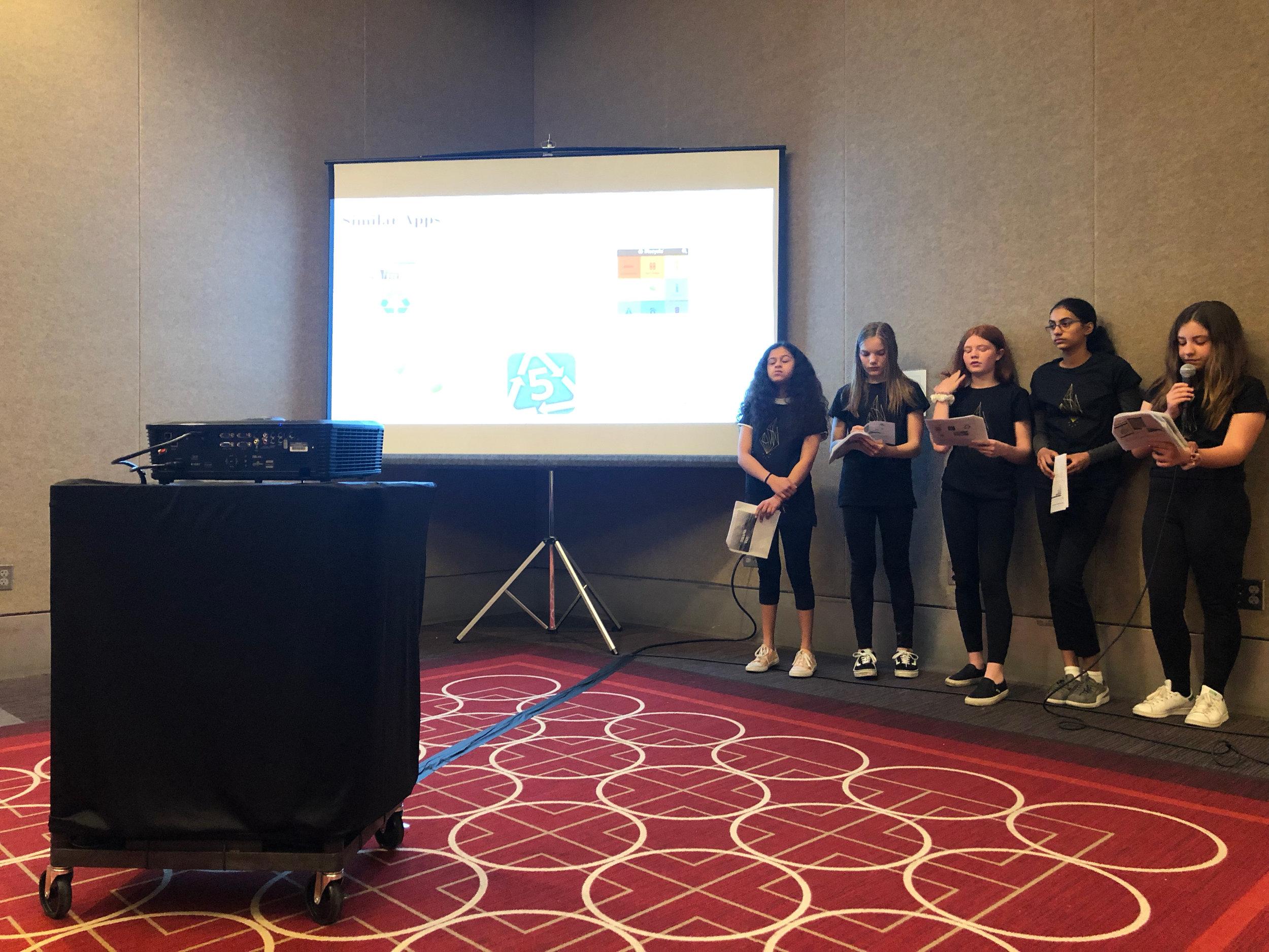 Technovation 2019 Junior Division Team Earth Savers