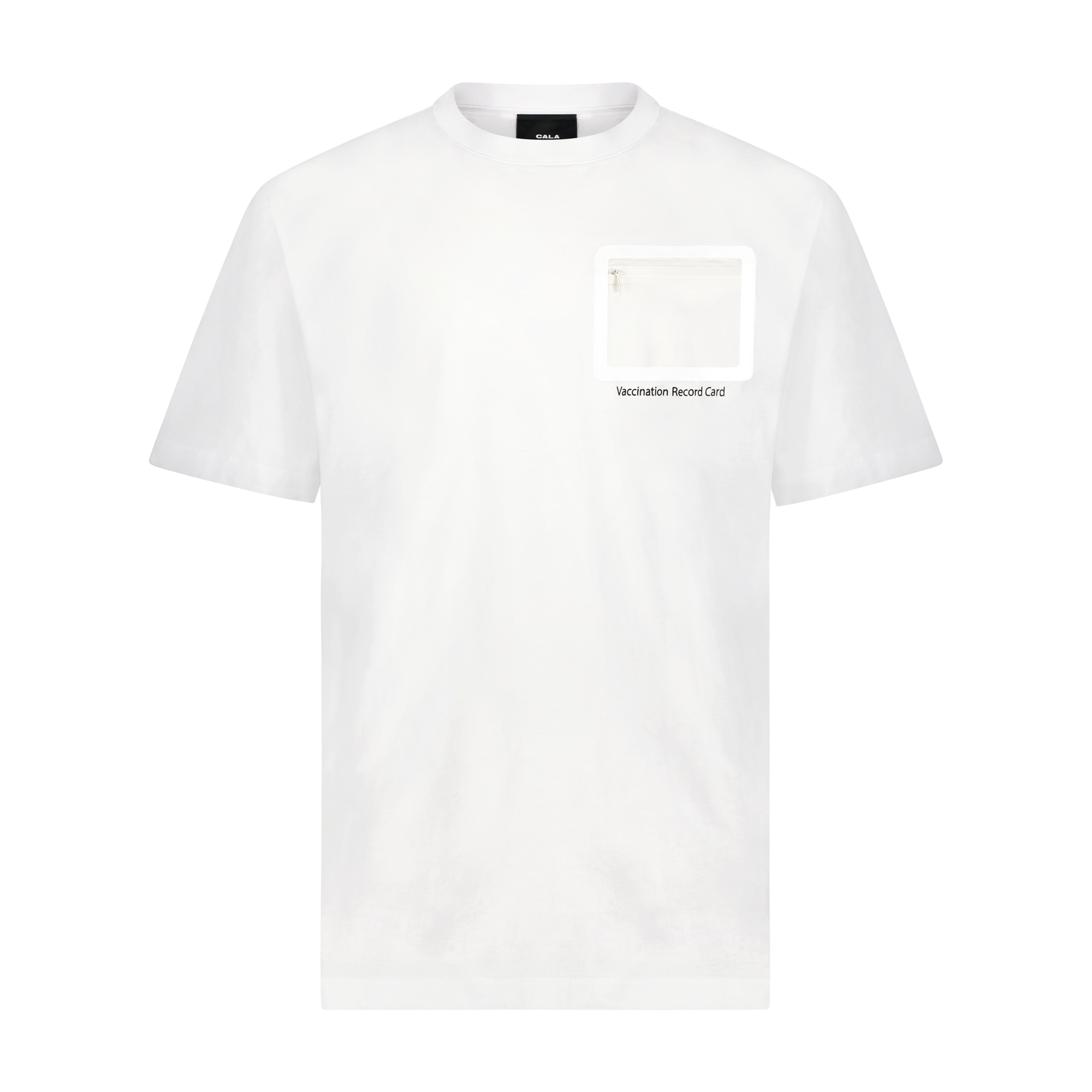 Vaccination Record Card Tee with no card inside.