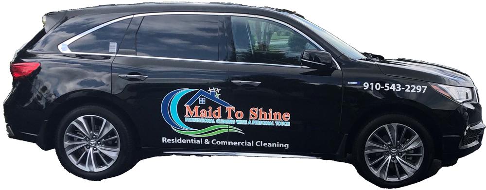 A black Maid to Shine vehicle.