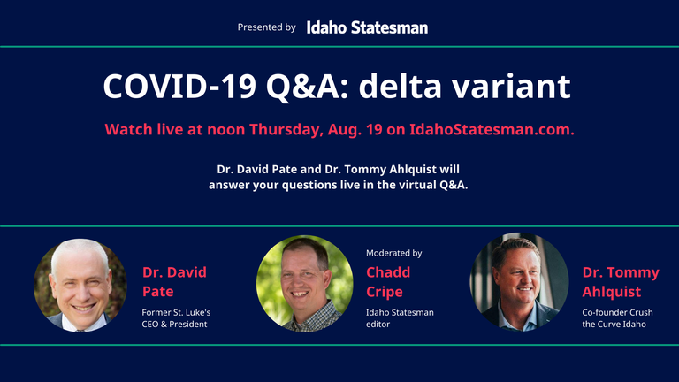 Watch live: COVID-19 delta variant Q&A with Drs. Pate & Ahlquist. RSVP and ask your question now