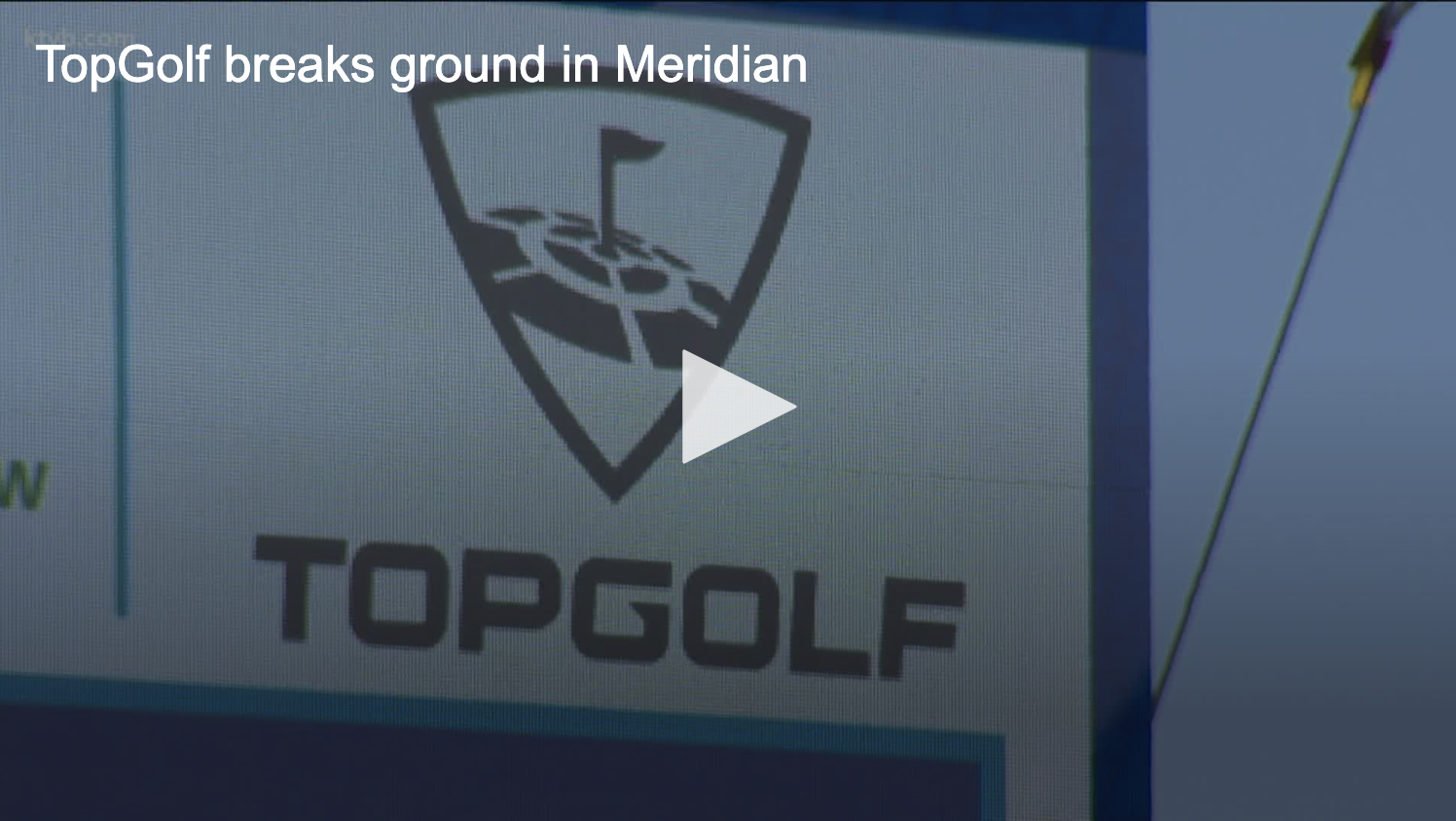 Topgolf breaks ground in Meridian - The entertainment facility is part of the new Eagle View Landing on the corner of Interstate 84 and Eagle Road.