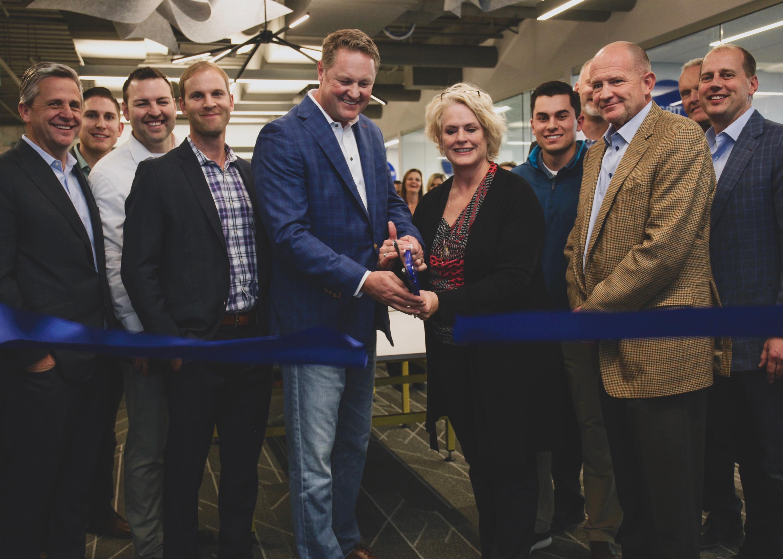 BVA Team ribbon cutting ceremony at new BVA office.