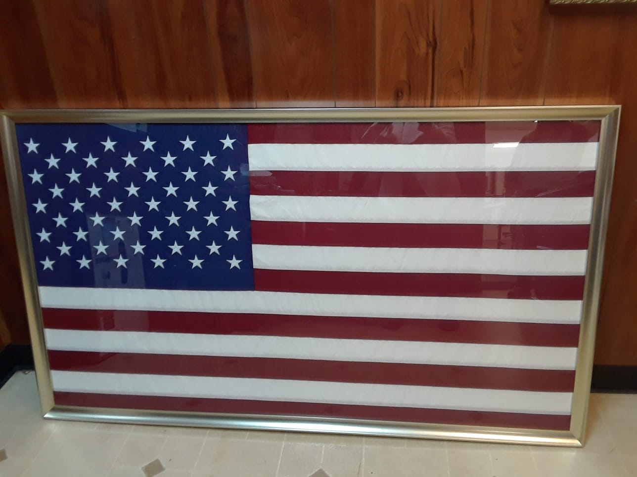 U.S.A. flag Snoopy framing job The Framemakers
