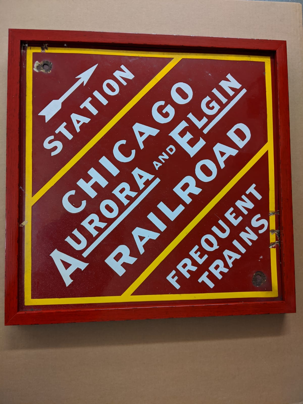 Railroad sign Snoopy framing job The Framemakers