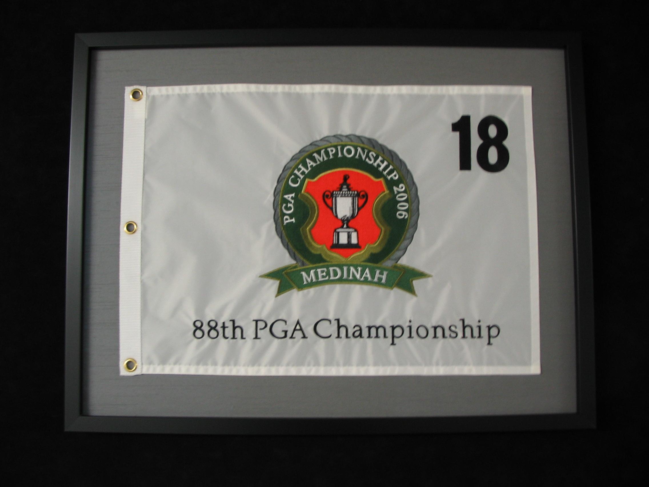 PGA Tour Flag Golf framed by The Framemakers