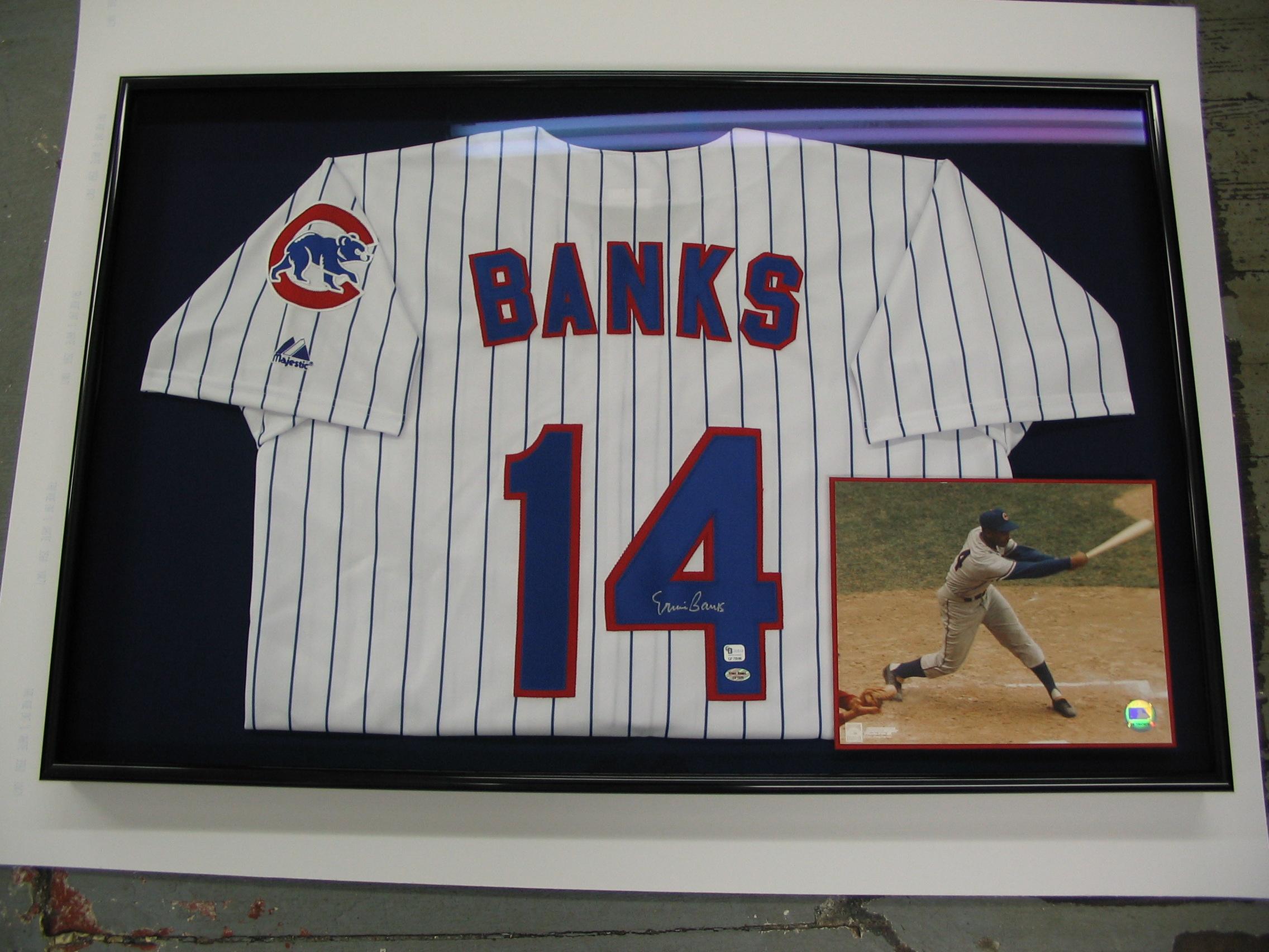 Chicago Cubs Ernie Banks framed by The Framemakers
