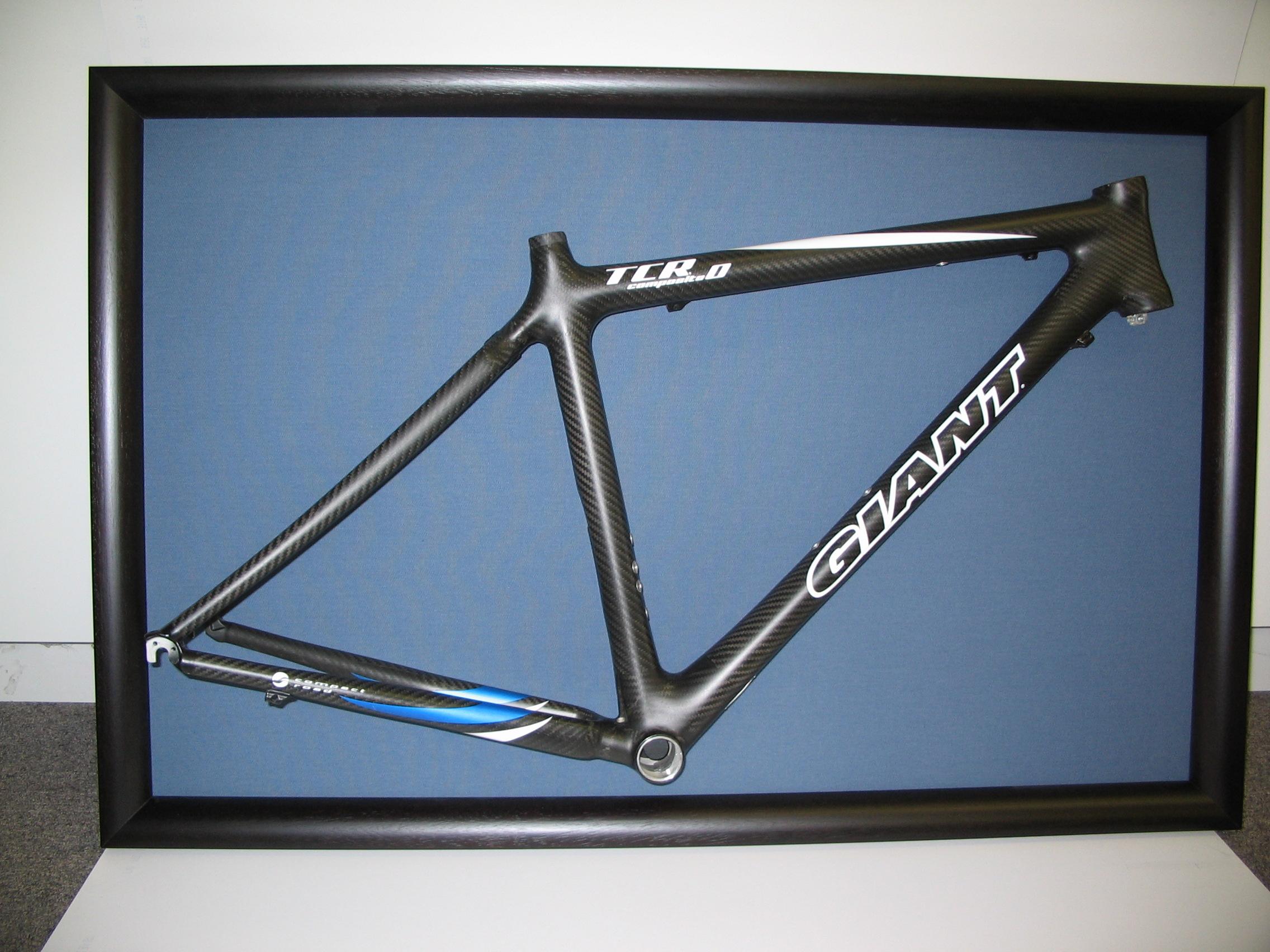 Bike framed by The Framemakers