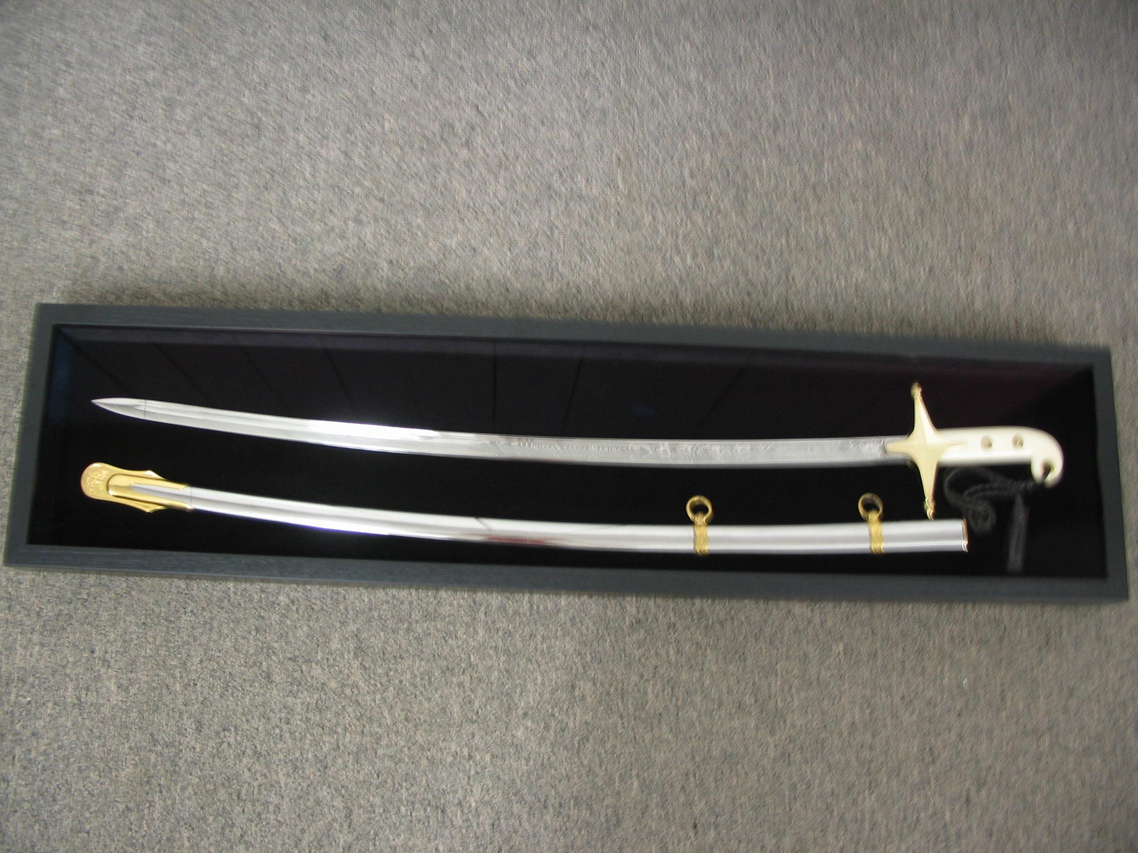 Sword framed by The Framemakers
