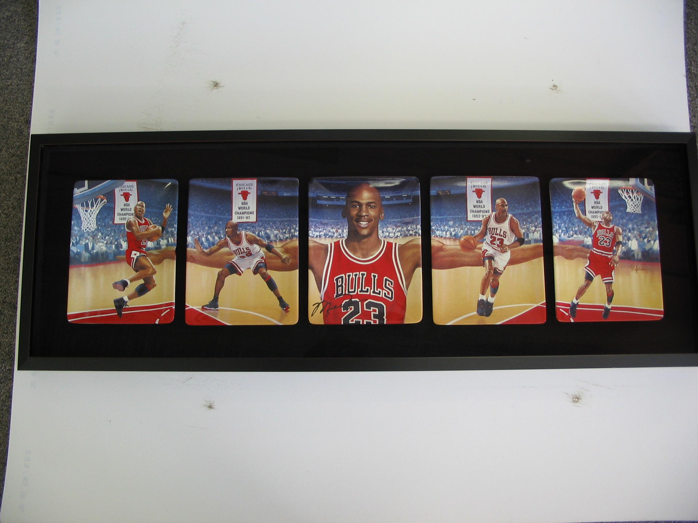 Michael Jordan framed by The Framemakers