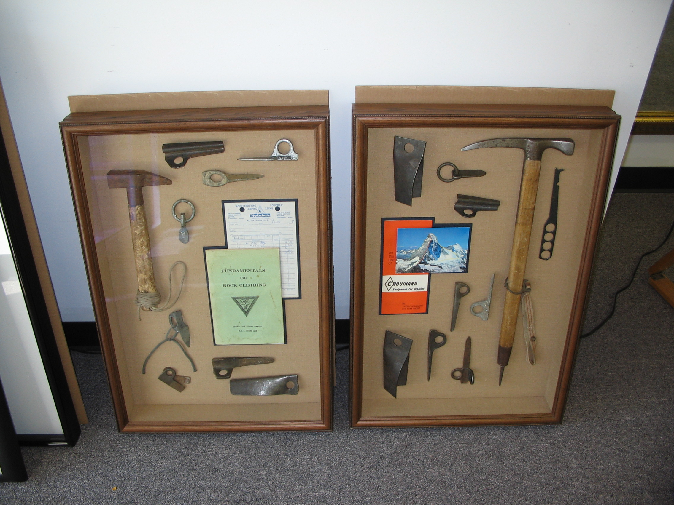 Hiking material framed by The Framemakers