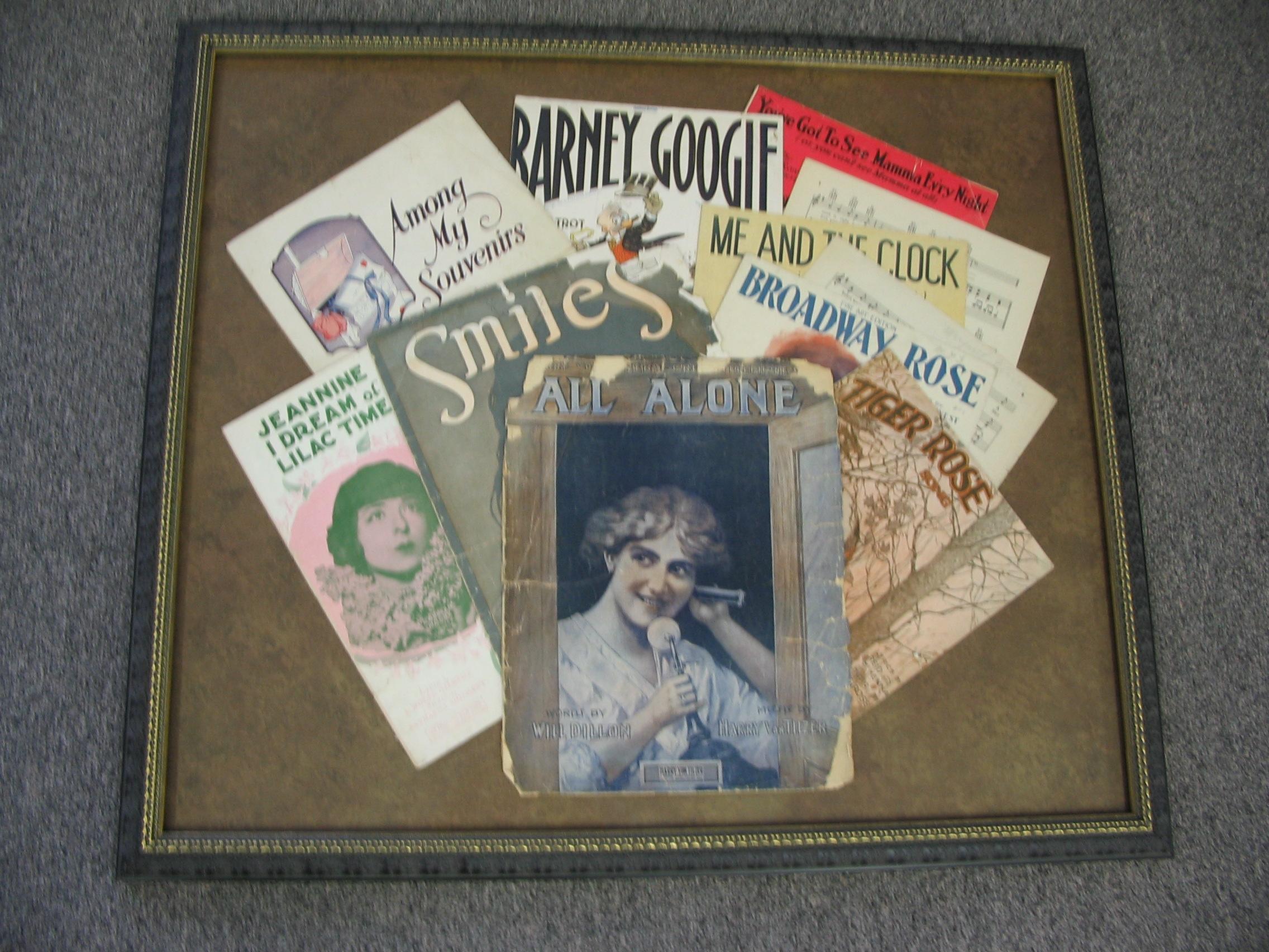 Old books framed by The Framemakers