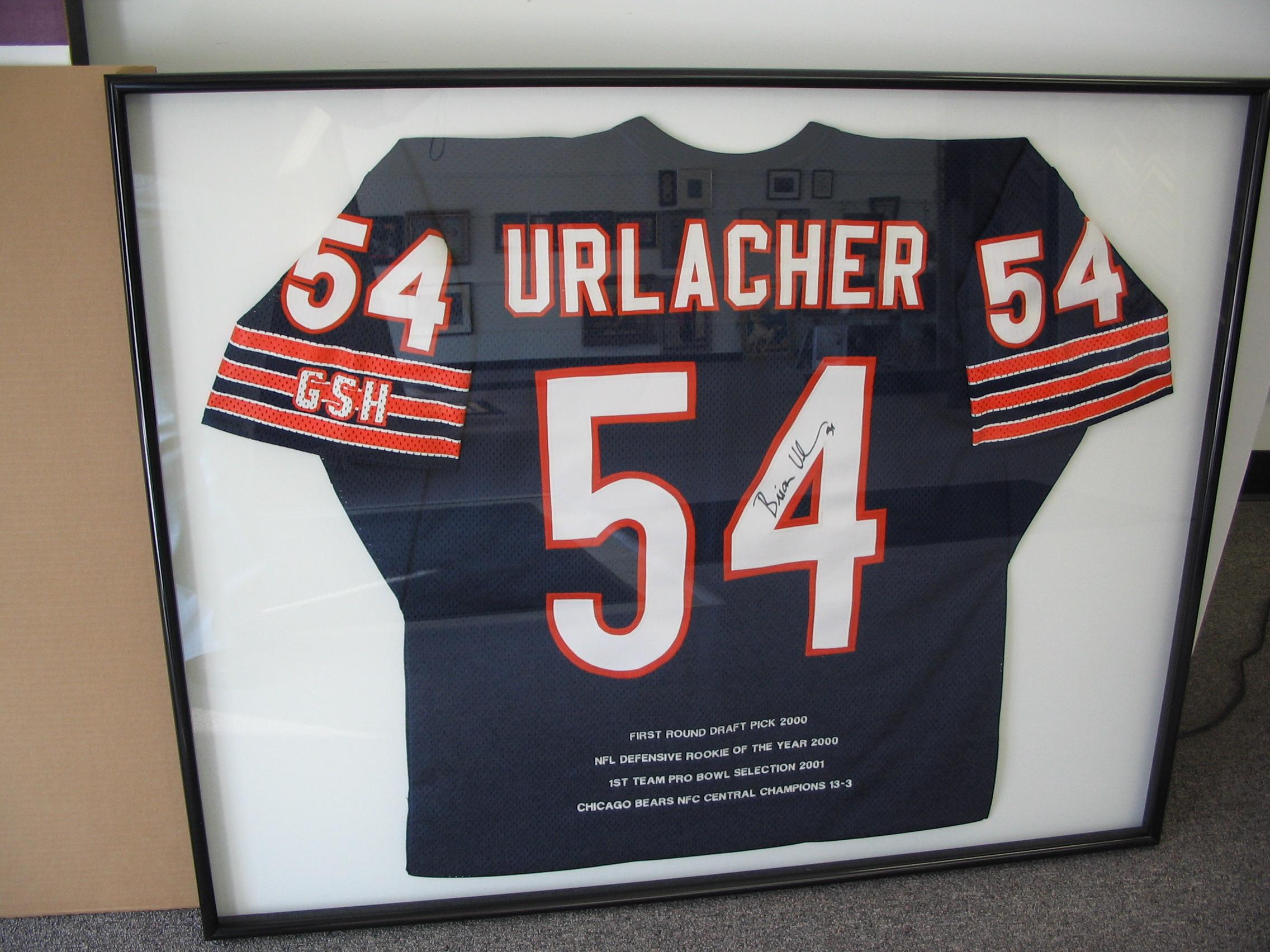 Chicago Bears Brian Urlacher framed by The Framemakers