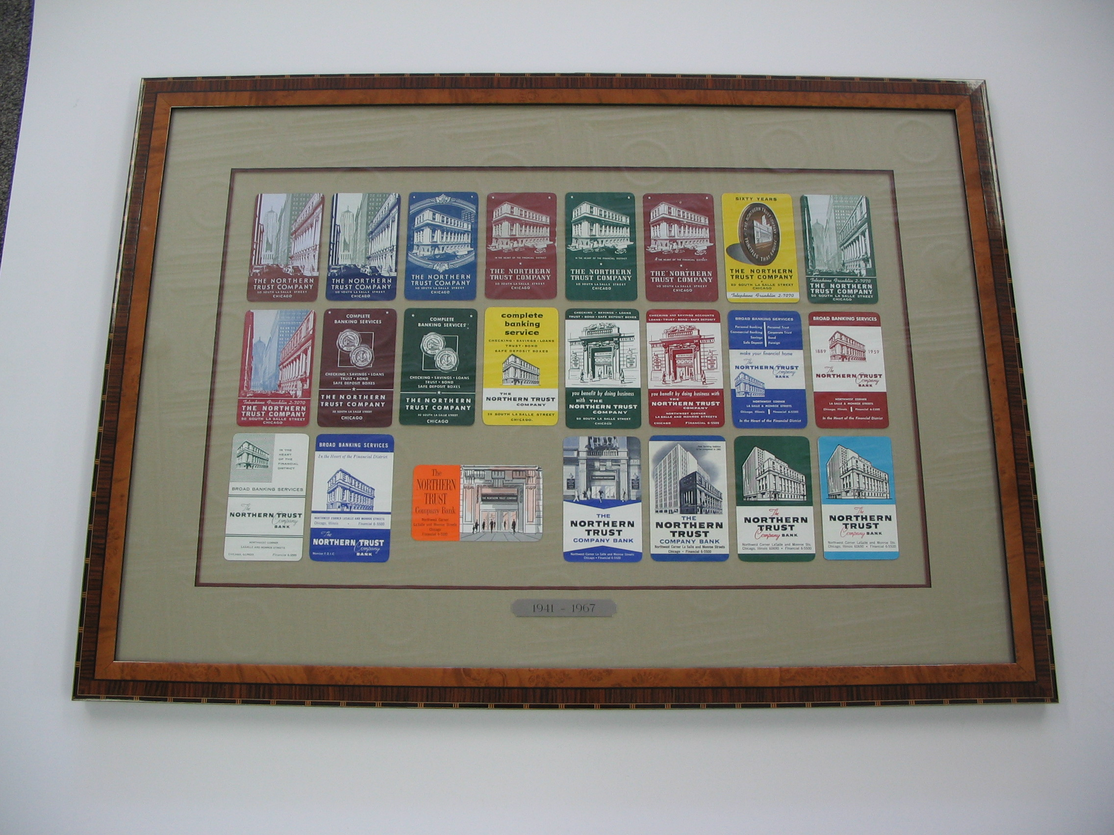 Train tickets framed by The Framemakers