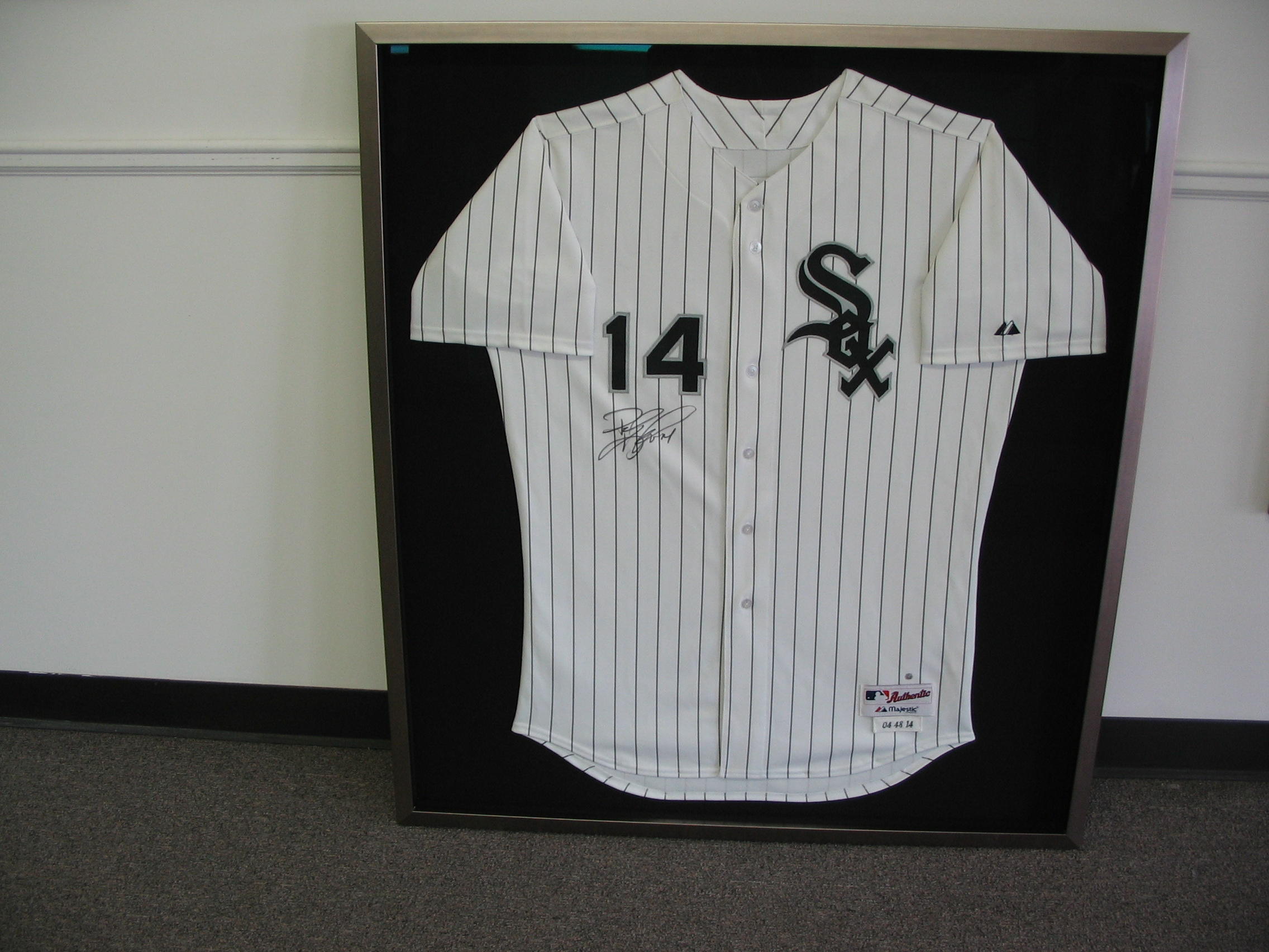 White Sox jersey framed by The Framemakers