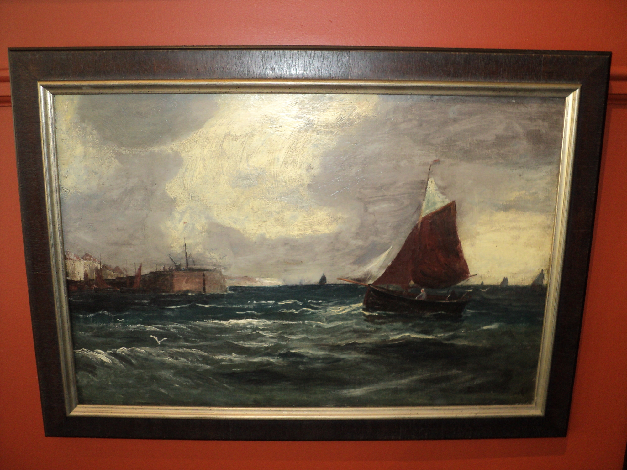 Sailboat painting framed by The Framemakers