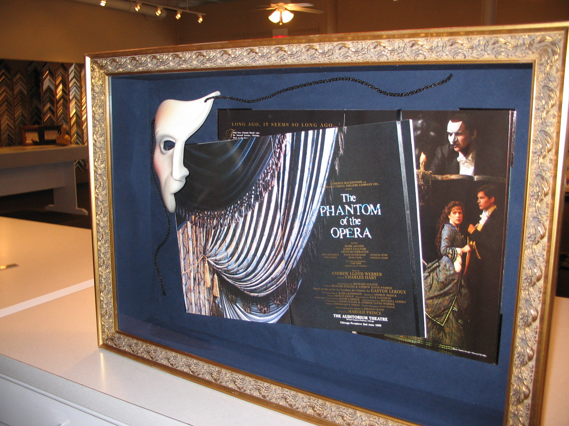 The Phanton of The Opera framed by The Framemakers