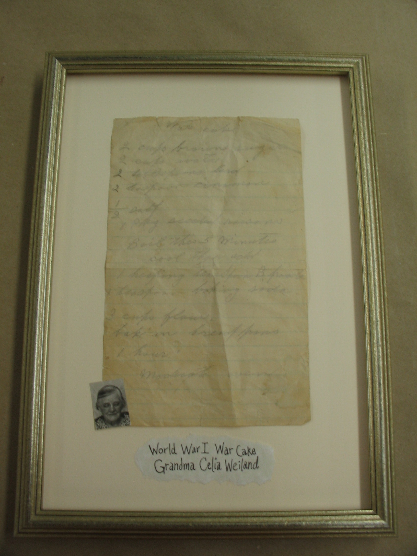 World War I framed image