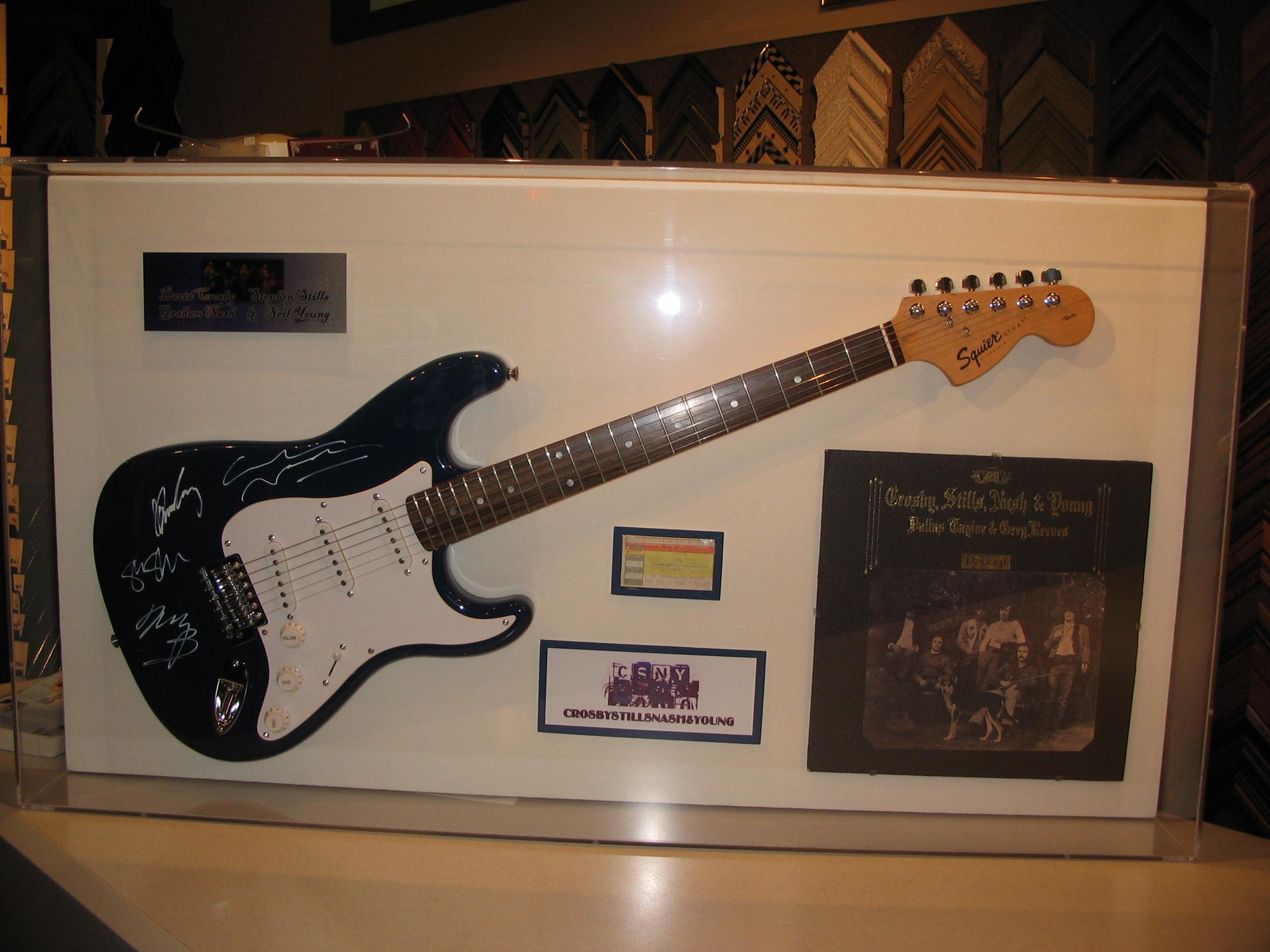 Guitar framed by The Framemakers