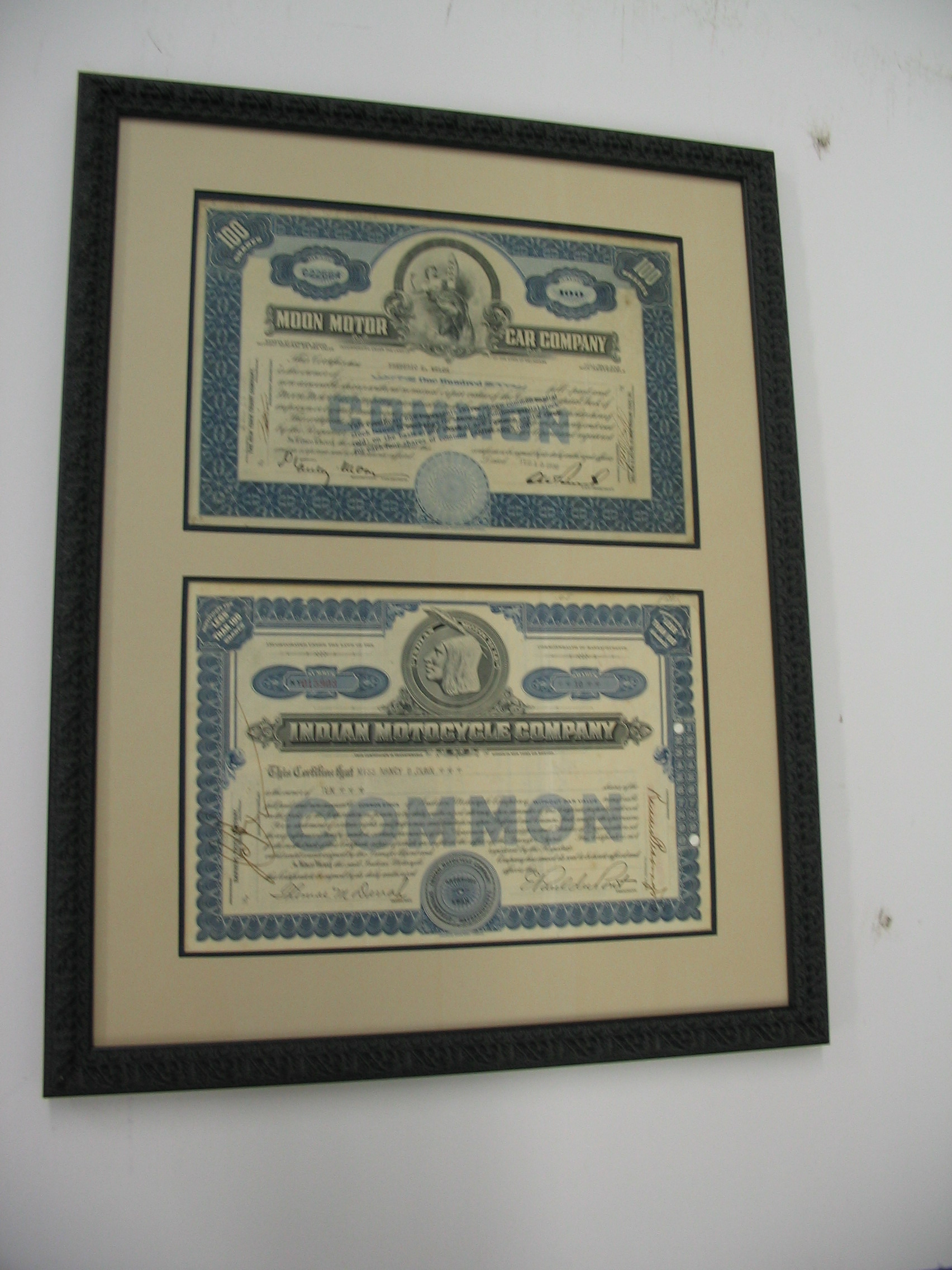 Documents framed by The Framemakers