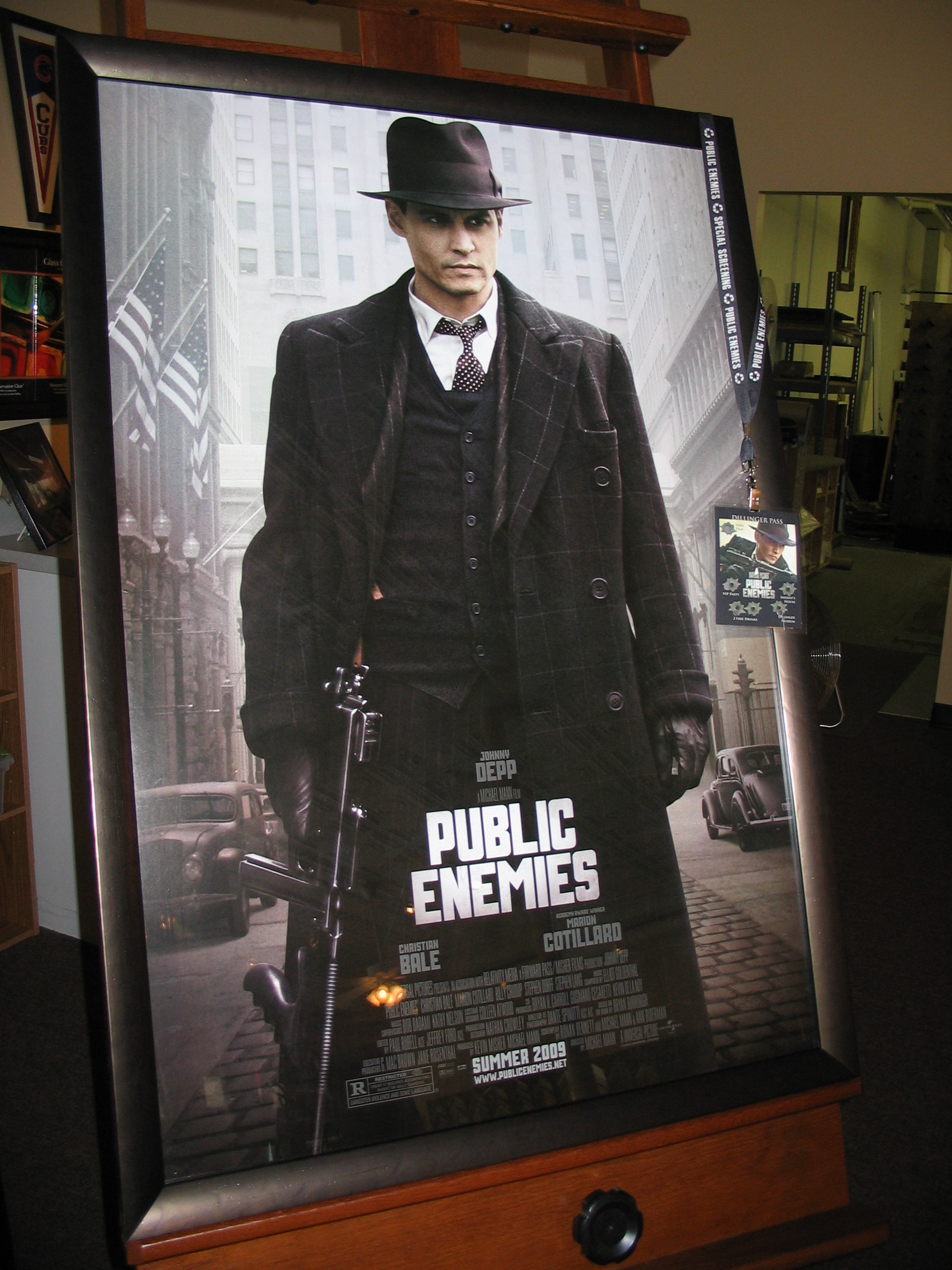 Public Enemies Movie framed by The Framemakers