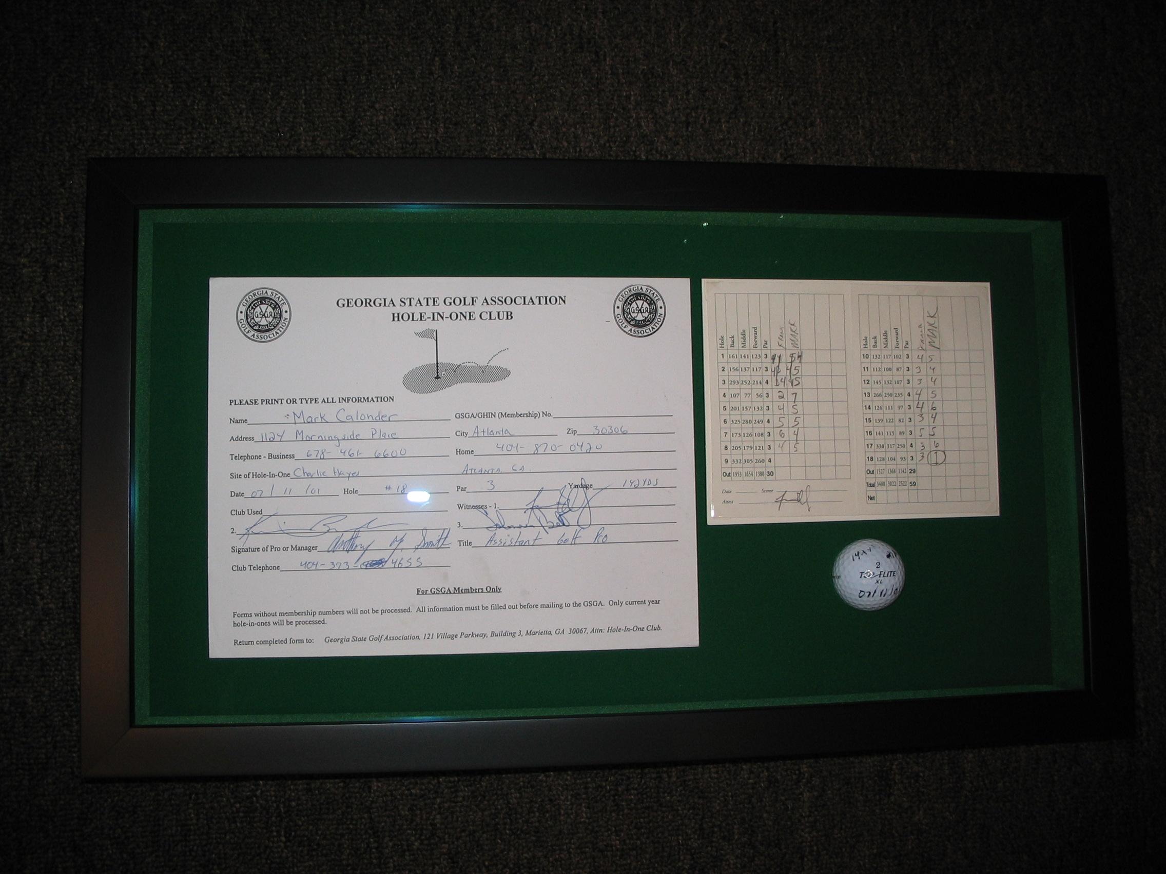 Golf framed by The Framemakers