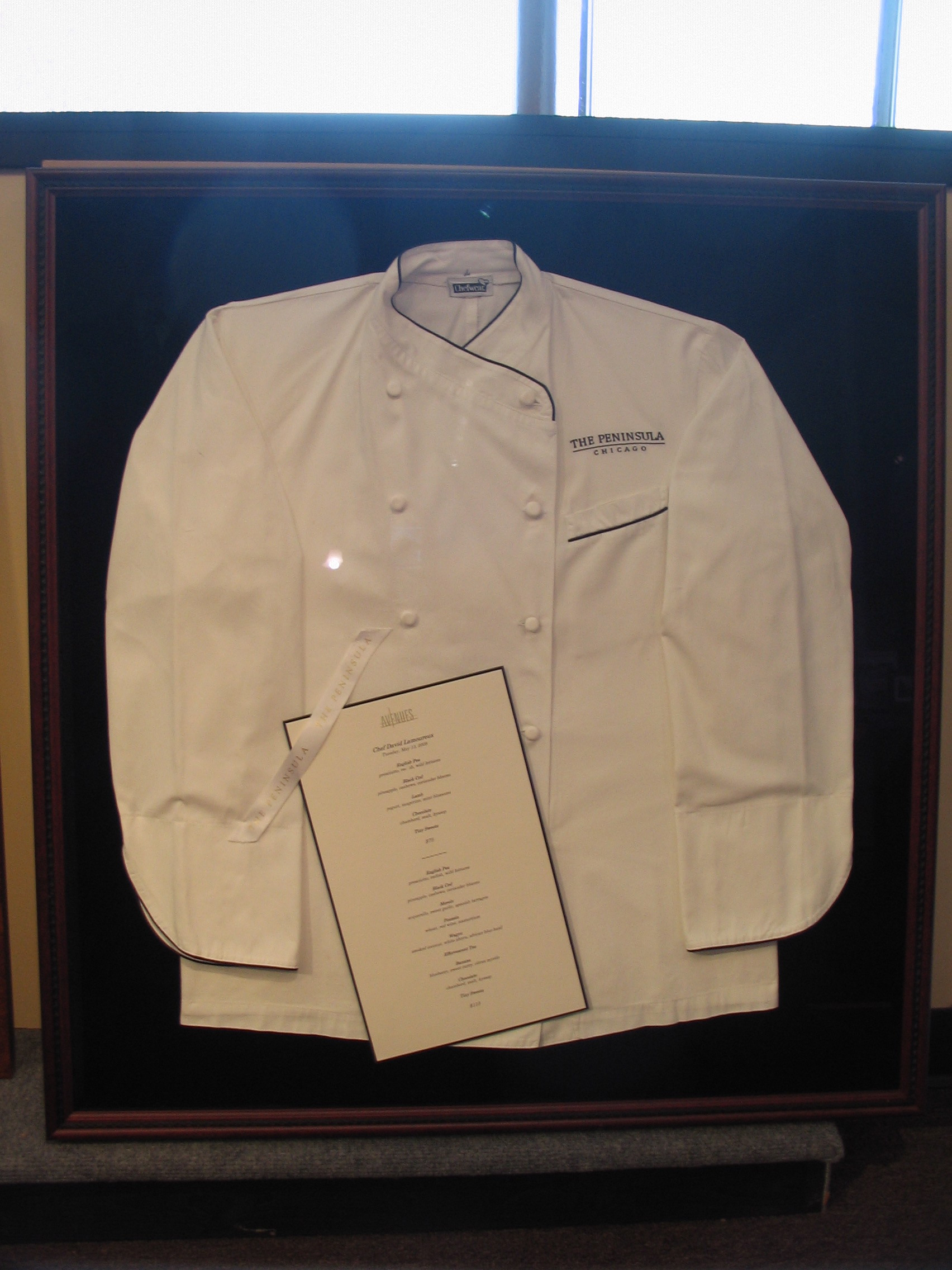 Chef outfit framed by The Framemakers