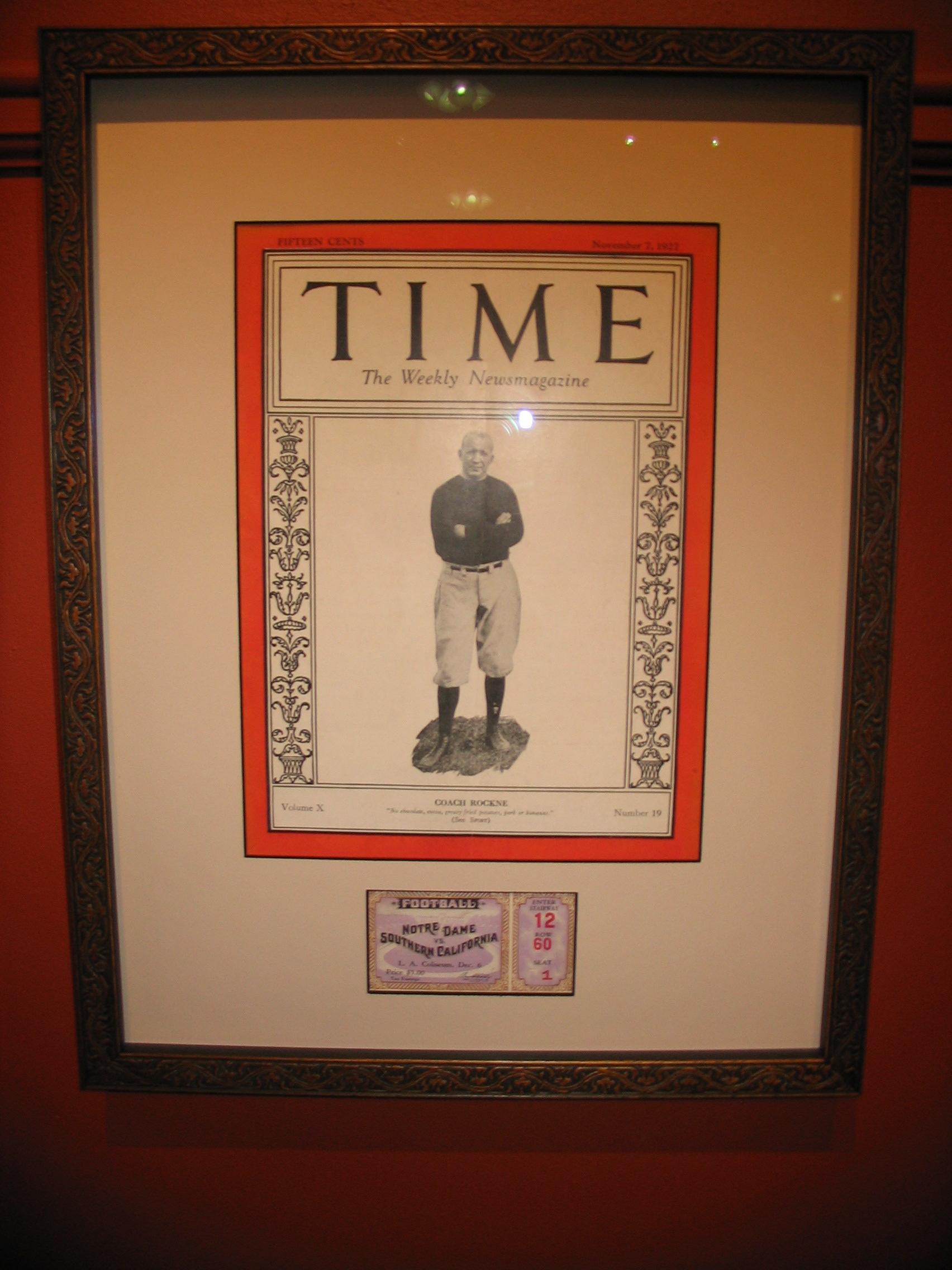 Time Magazine framed by The Framemakers