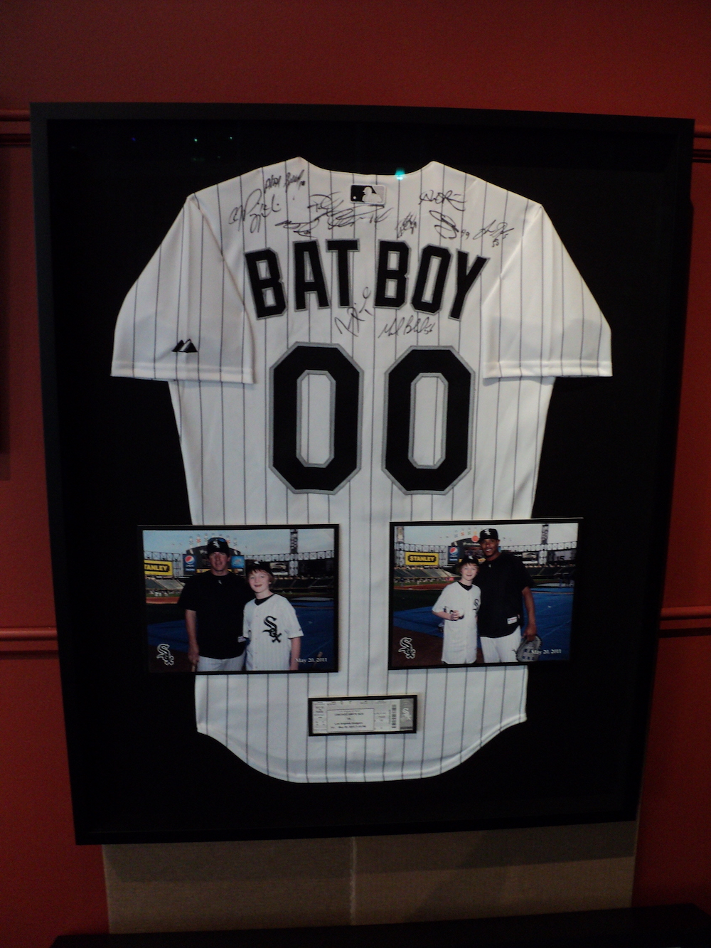 Chicago White Sox Jersey framed by The Framemakers