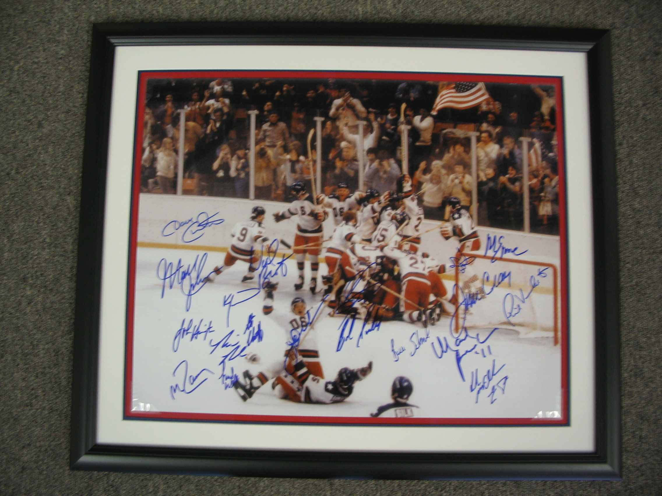 U.S.A. hockey framed by The Framemakers