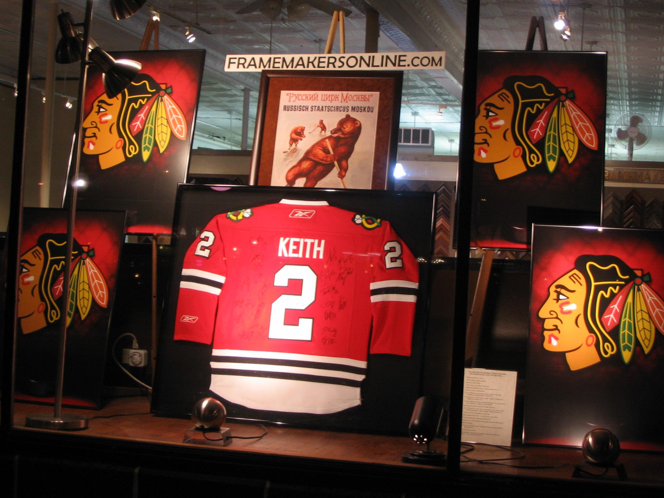 Chicago Blackhawks framed by The Framemakers