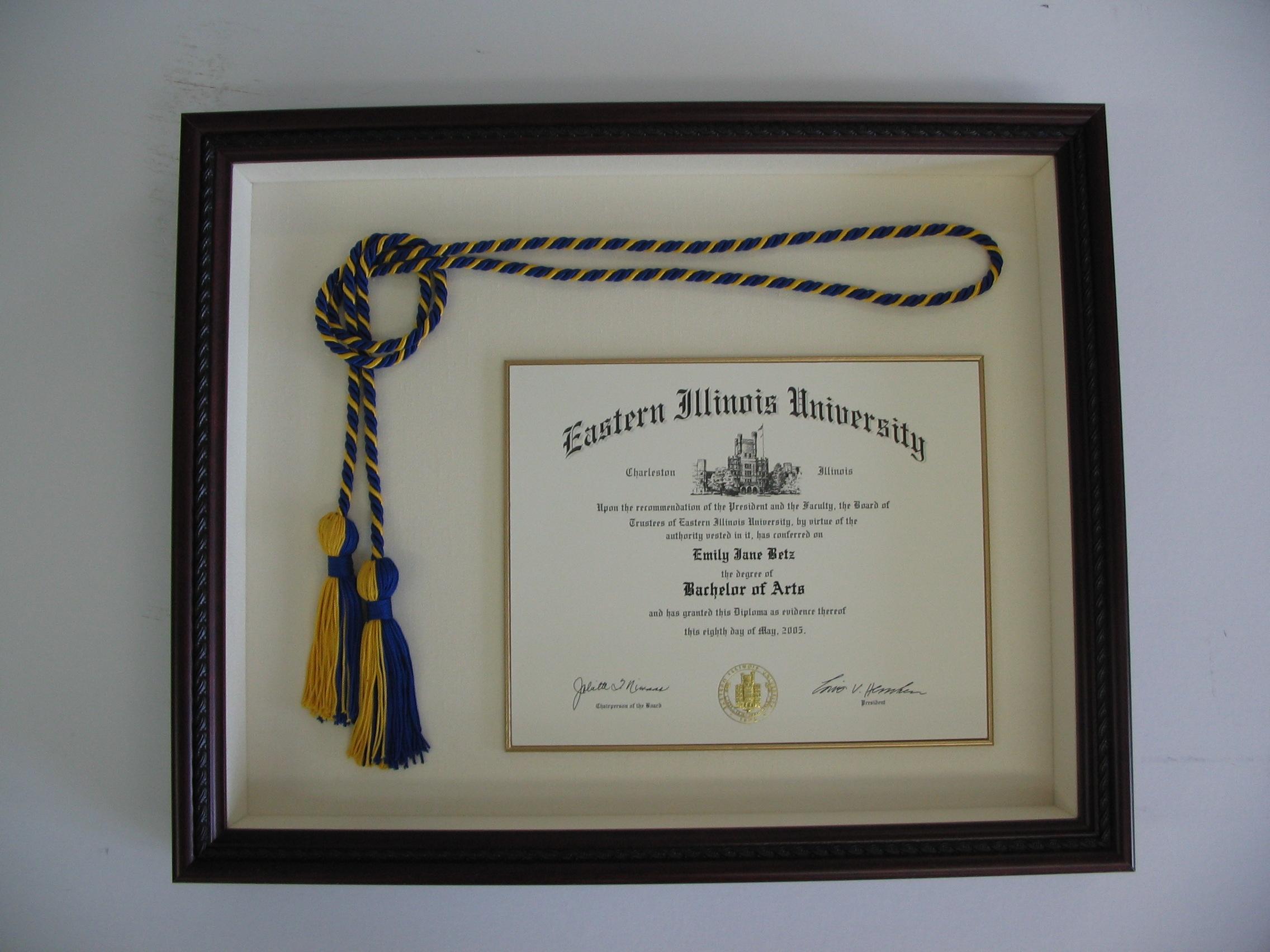 Eastern Illinois University diploma