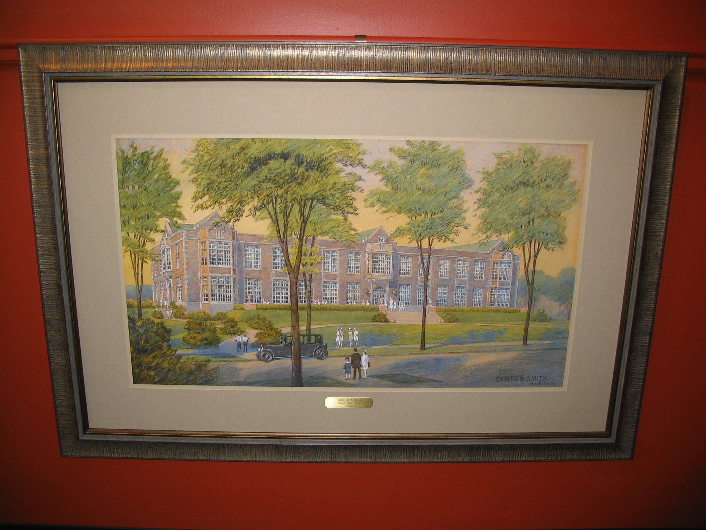 College campus framed by The Framemakers