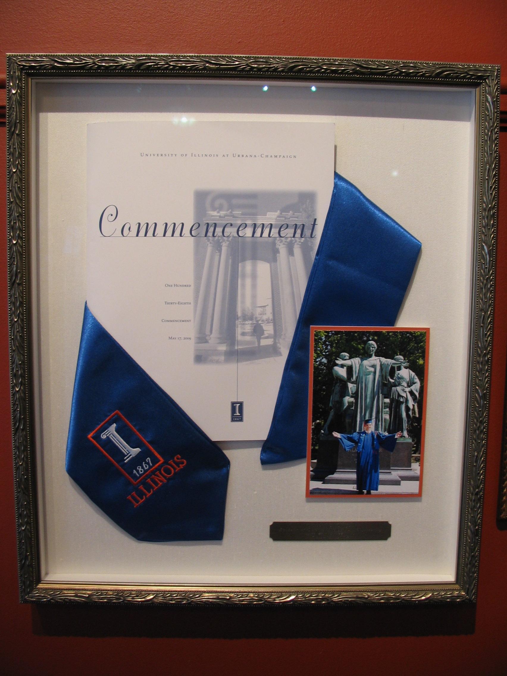 University of Illinois framed by The Framemakers