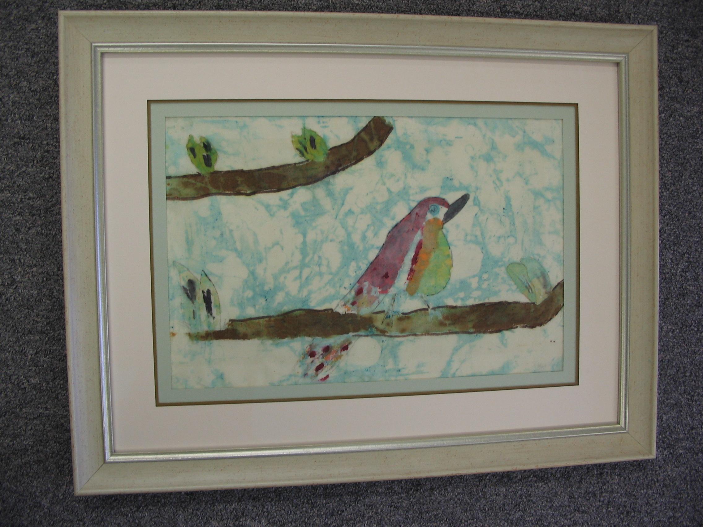 Bird framed by The Framemakers