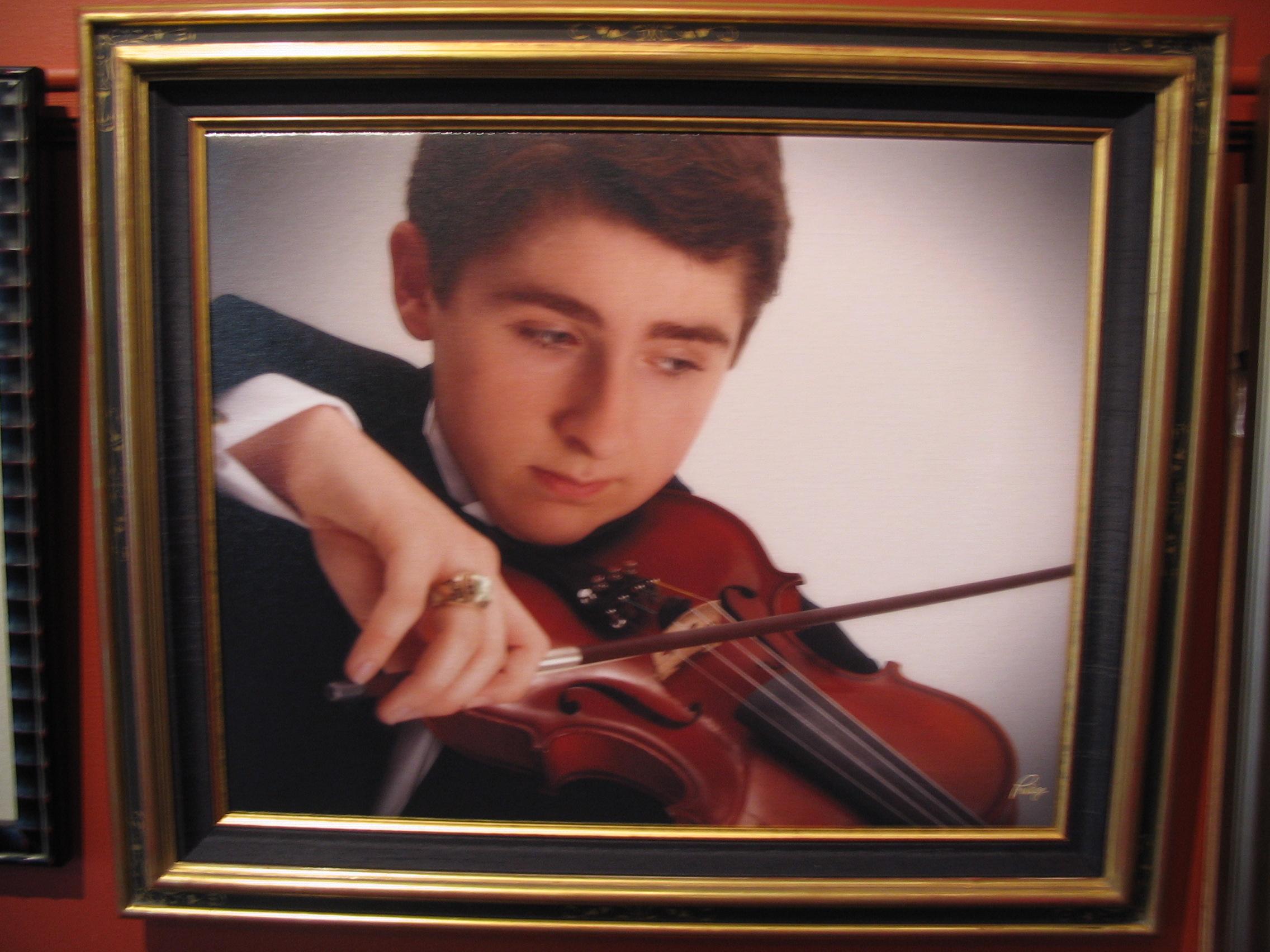Violin framed by The Framemakers